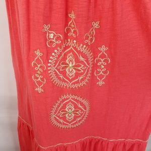 J. Jill Dresses - J Jill Maxi Dress SZ XS Orange Embroidered